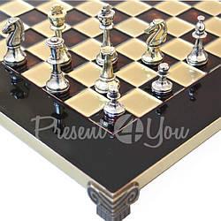 Шахматы «Стаунтон» Manopoulos,красные, 28х28см (088-3202S)