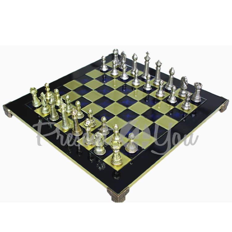 Шахматы «Стаунтон» Manopoulos,синие,28х28см (088-3301S)