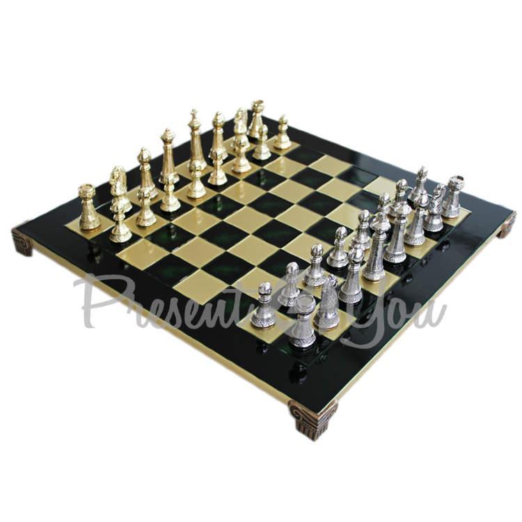 Шахматы «Стаунтон» Manopoulos, зеленые,44х44 см(088-3302S)