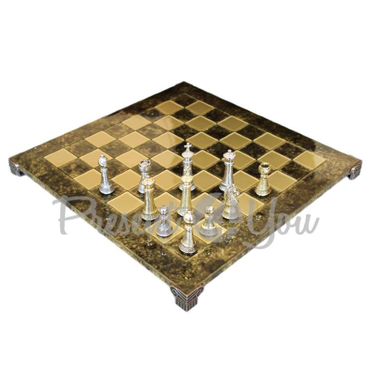 Шахматы «Стаунтон» Manopoulos, коричневые, 44х44 см (088-3304S)