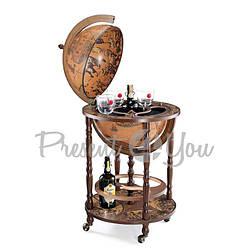 Глобус-бар напольный«Минерва» (Classic) (h-110 см, d-40 см) (248-0011)