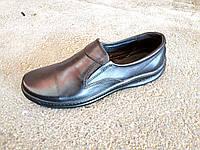 Туфли черные мужские кожаные  39 -47 р-р