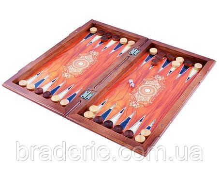 Деревянные подарочные нарды 740XLY доска 46X42 см, фото 2