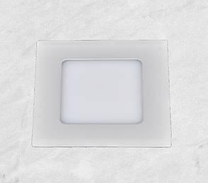 Врезной светильник (квадрат, 15см, 9W, холодный свет), фото 2