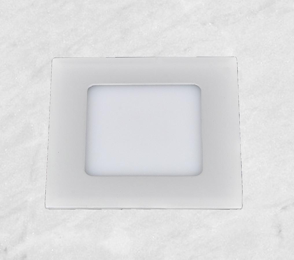 Врезной светильник (квадрат, 15см, 9W, тёплый свет)