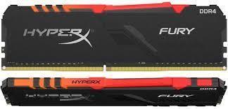 Пам'ять Kingston HyperX Fury DDR4 16GB*2 3200 CL16, RGB, Black  (HX432C16FB3AK2/32): продажа, цена в Киеве  модули памяти от