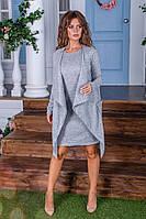 Утепленное платье двойка  / ангора с начесом / Украина 6-908, фото 1
