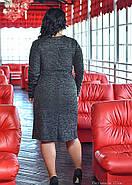 / Размер 52,54,56,58 / Женское стильное трикотажное платье с полочками на запах, фото 2