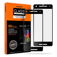 Защитное стекло Spigen для Google Pixel 2 Glas.tR Slim Full Cover, Black (F16GL23062)