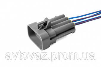 Разъем форсунки ВАЗ 5 контактный штыревой с проводами (аналог Packard 12052480)