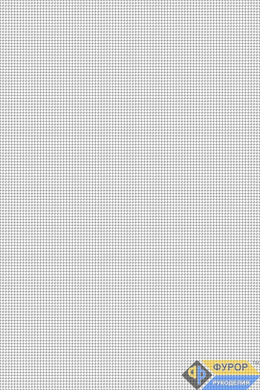 Чиста схема-сітка (розмітка) для вишивки бісером формат А3 (СБЧ3)