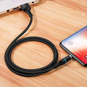 Дата кабель USAMS US-SJ352 U32 Magnetic USB to Lightning (1m) (2.4A), фото 2