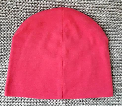Шапка весна-осень на девочку розового цвета ТМ Fido (Польша)  размер  46 48, фото 2