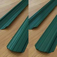 Штакетник двух сторон зеленый  6005 0,35 мм
