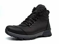 Зимние черные матовые кожаные ботинки на овчине мужская обувь Rosso Avangard Lomer 2 Black Matte Leather, фото 1