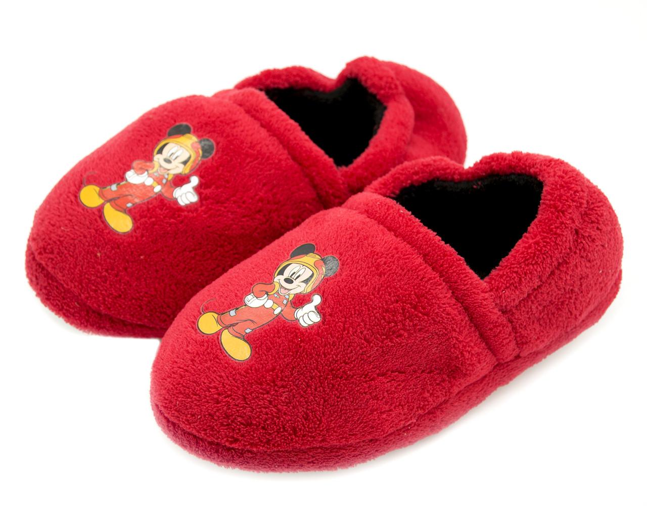 Комнатные тапочки  детские Disney Германия Красные Размеры: 28-29;