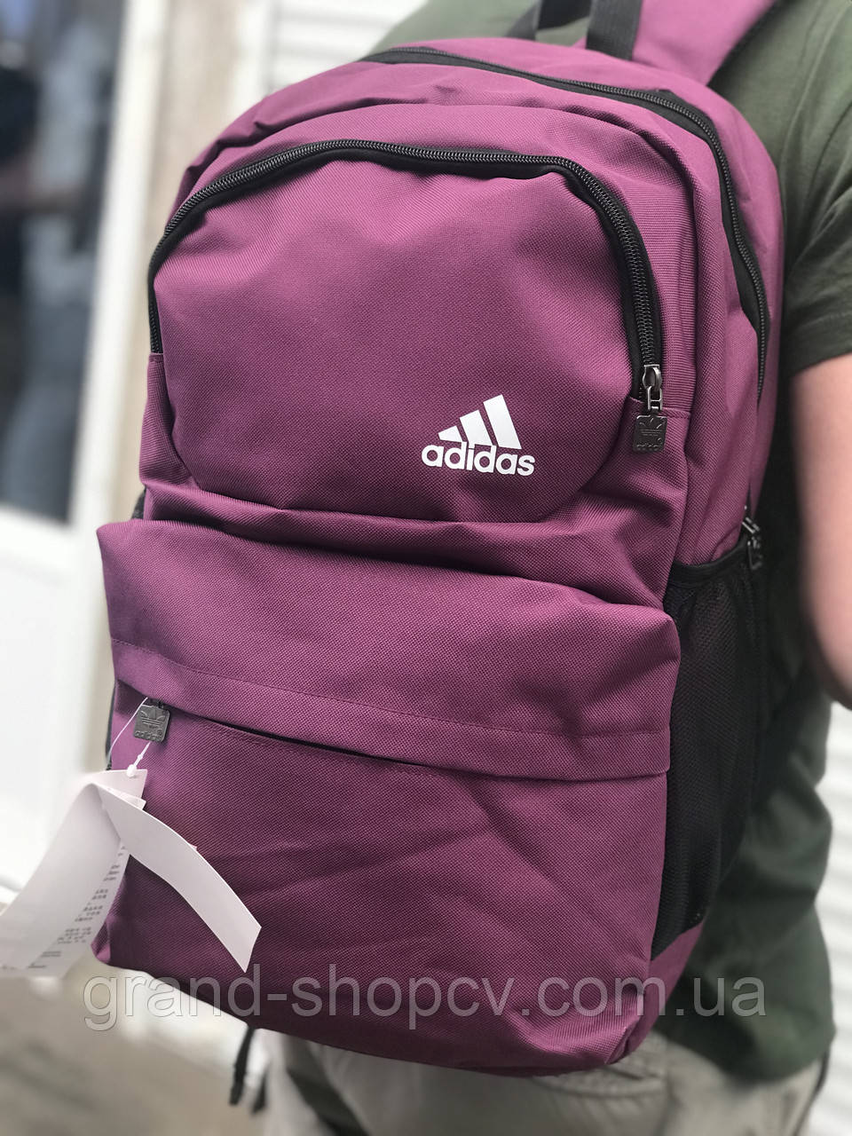 Качественный мужской рюкзак- портфель Adidas. Спортивный рюкзак Адидас