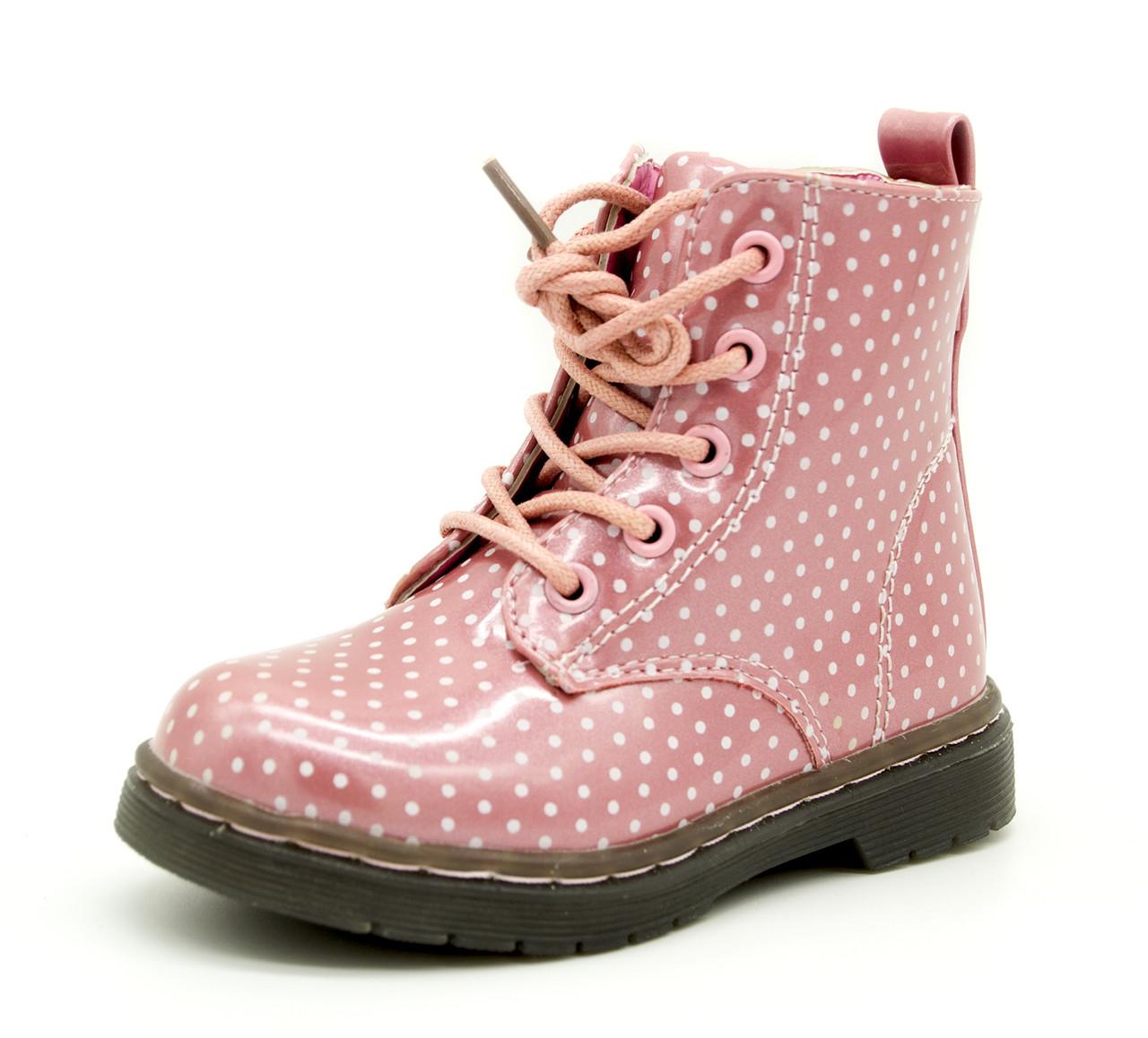 Демисезонные ботинки для девочки Розовые Размеры: 23, 24, 25, 26, 27, 28