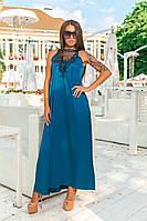 Платье в пол с кружевом на груди, фото 1