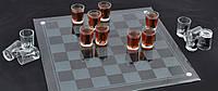 Стеклянные шахматы с рюмками 086S алкогольная игра