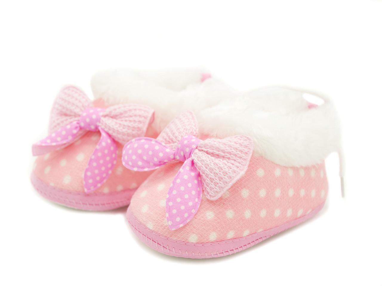 Пинетки для девочки Розовые Размеры: 12