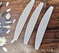 Пилочка серая лодочка для ногтей 100/180 шт