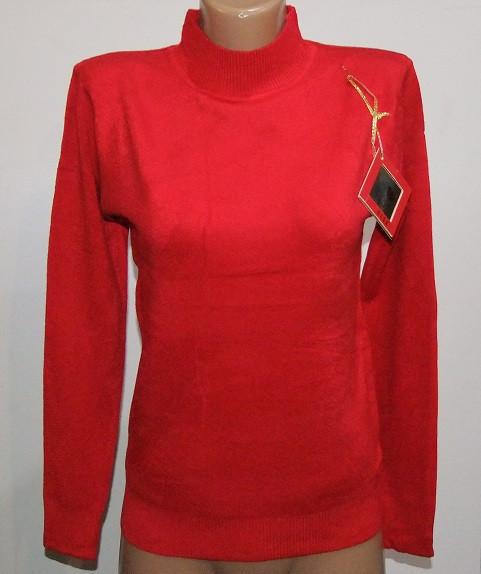Женский кашемировый гольф  GLSA арт 618  размер 44-48 красный.