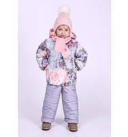 Детские зимние комбинезоны Кармелита для девочек 1-3 года, цвета разные, опт и розница- S9949