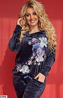 Спортивный красивый женский костюм демисезонный велюр 48-56 размеров, 4 цвета