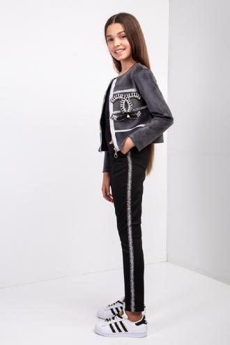 Стильні весняні брюки на дівчинку з лампасами, 152-164.