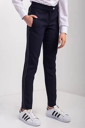 Стильні весняні брюки на дівчинку з лампасами, 152-164., фото 2