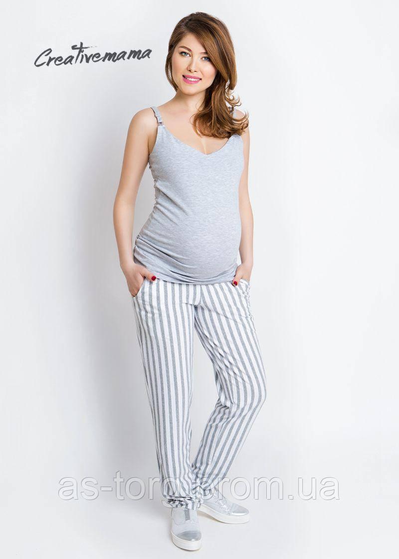 Топ - майка для будущих мам и кормления Basik Grey