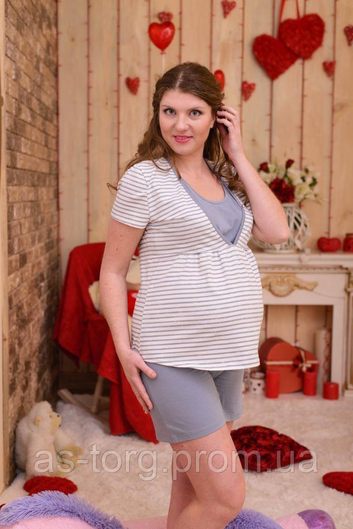 Пижама для беременных и кормящих Mammalux, мод.814