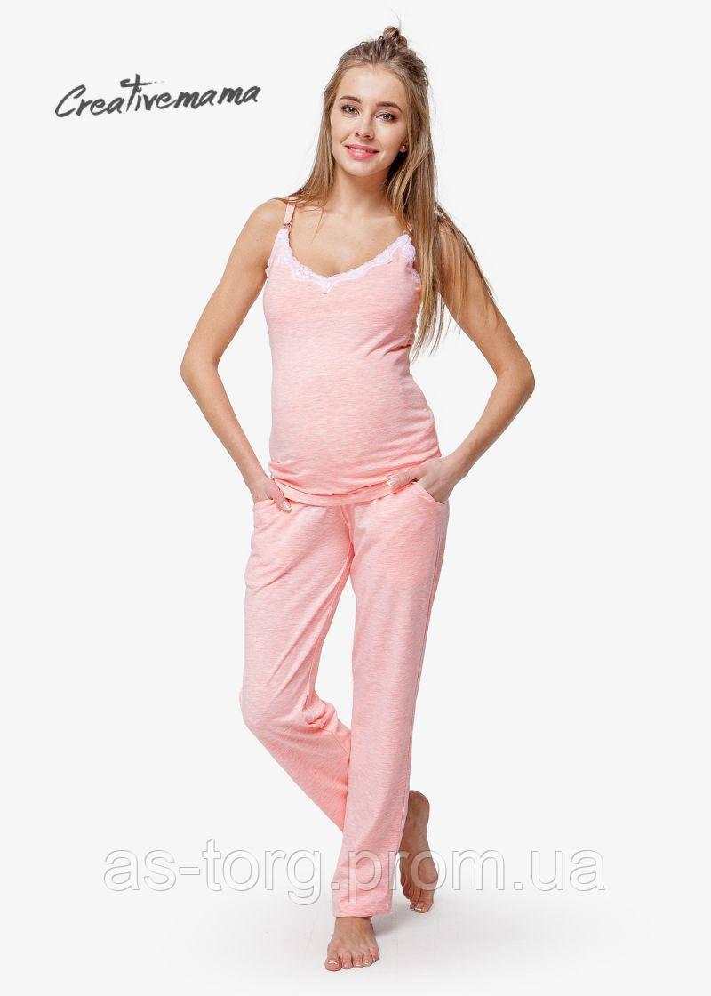 Пижама для беременных и кормящих мам Peach Coton