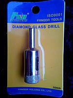 Коронка алмазная по стеклу и керамике 16 мм