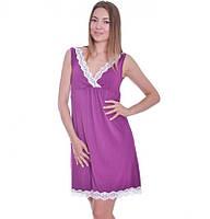 Ночная рубашка Purpure Мамин Дом 24143 пурпурный