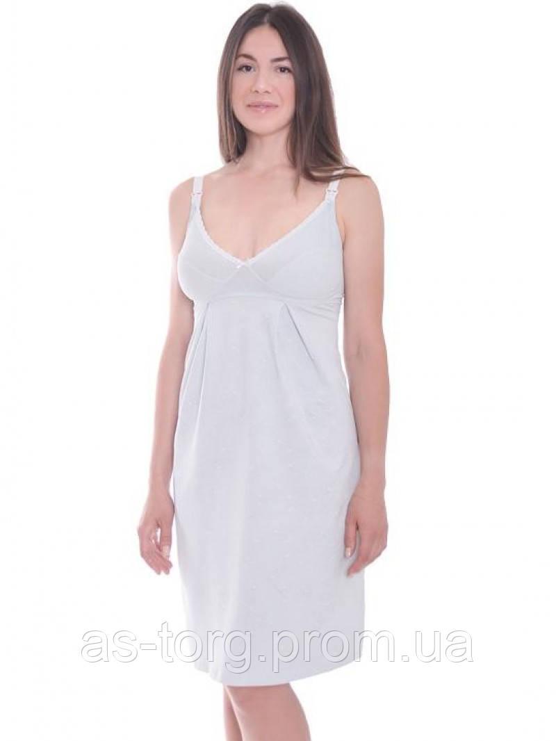 Ночная рубашка Mint Мамин Дом  24168 нежно-мятный
