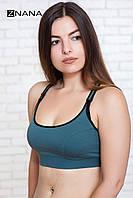 Бюстгальтер-топ SPORT хаки  для беременных и кормящих мам