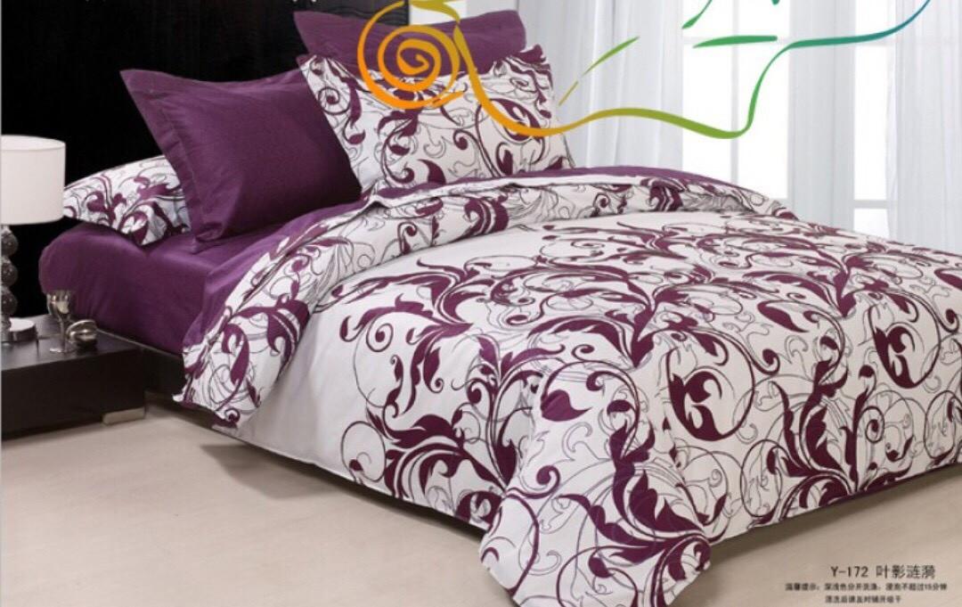 Постельное белье фиолетовое