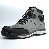 Зимние светло-серые кожаные ботинки на овчине мужская обувь Rosso Avangard Lomerback 2 Bunny Gray Leather, фото 1