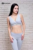 Бюстгальтер-топ Comfort серый меланж для беременных и кормящих мам