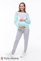 Спортивный костюм для беременных и кормящих Olbeni (серый)