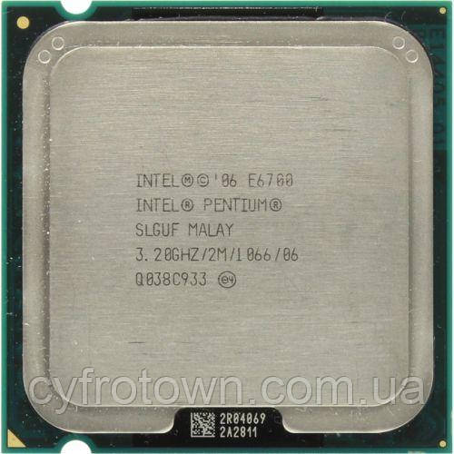 Процессор Intel Pentium E6700 2x3.2GHz 1066 2MB  s775 бу