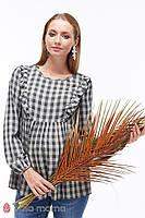 Блуза для беременных и кормящих Marcela (серо-зеленая клетка)