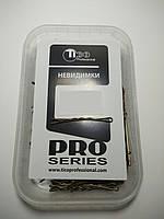 Невидимки Tico Professional 50мм коричневые волнистые 200гр