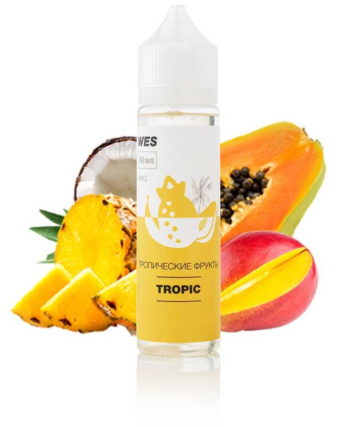 """WES The First """"Tropic"""" 60 мл (Тропические фрукты) Премиум жидкость для электронных сигарет"""