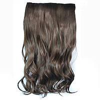 Искусственные волосы на заколках волнистые. Цвет #08А Темно-русый, фото 1