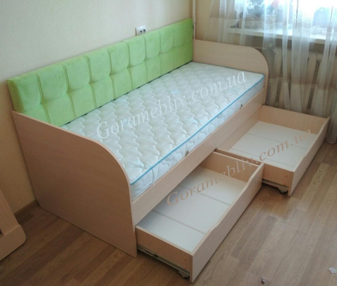"""Односпальная кровать с выдвижными ящиками """"Л-7"""""""