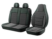 Автомобильные чехлы для авто для сидений Авто чехлы накидки майки Пилот BUS 2+1 на Renault Trafic Рено Трафик