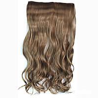 Искусственные волосы на заколках волнистые. Цвет #08 Русый холодный, фото 1